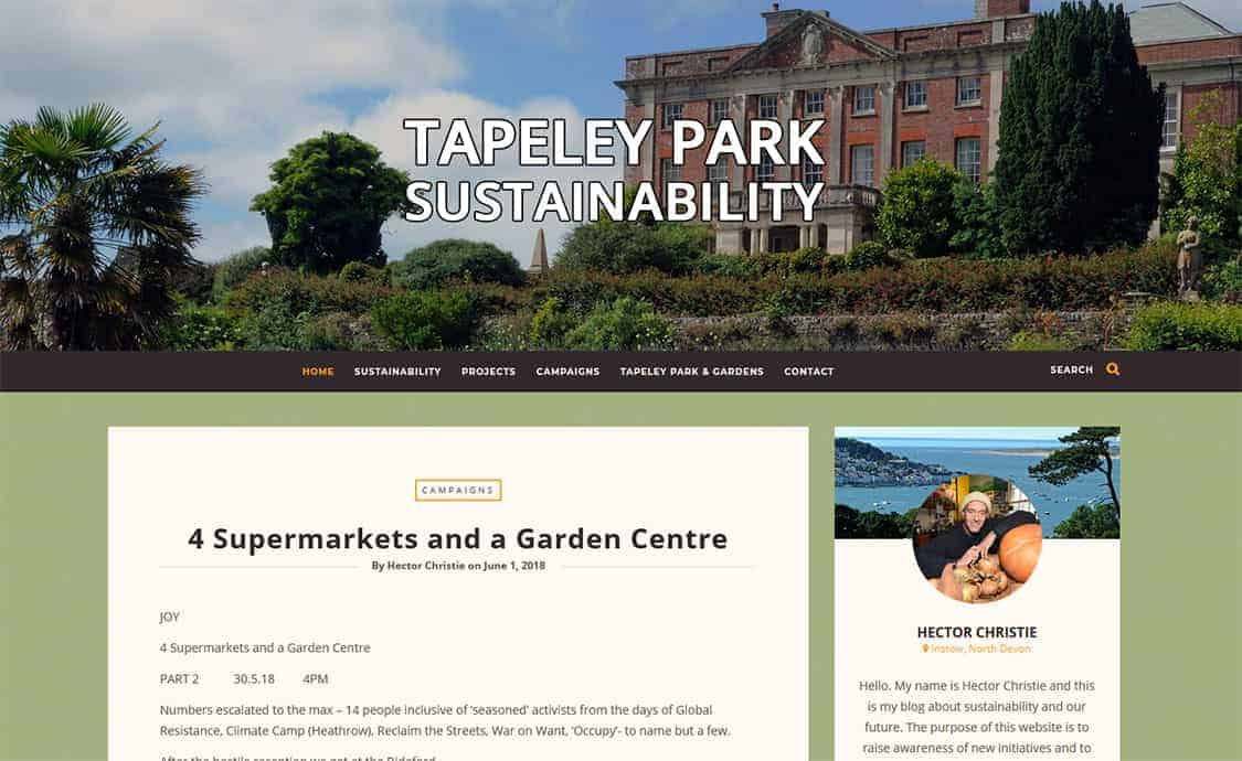 Tapeley Park Sustainability